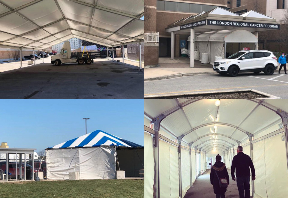 commercial medical tent rental covid testing london ontario
